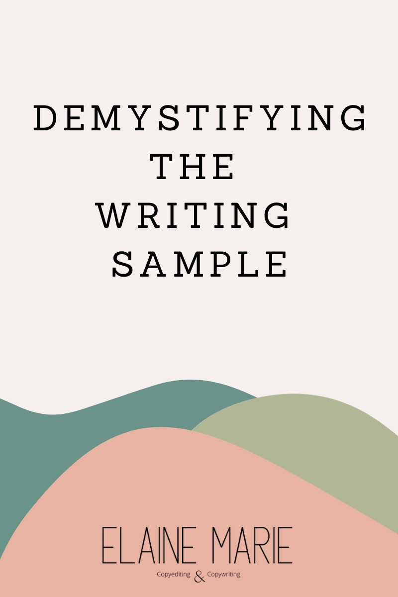 Demystifying the writing sample